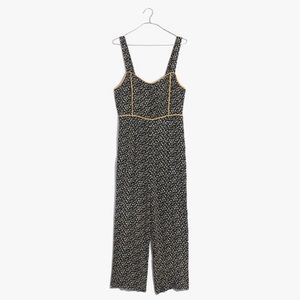 Madewell Playground Button-Front Wide-Leg Jumpsuit